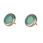 Sofia Tagua Earrings - Aqua