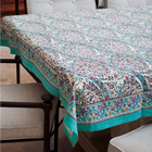 Turquoise Paisley Tablecloths