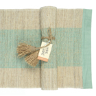 Turquoise Stripe Table Runner