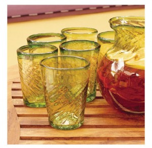 Drinking Glasses - Lime Contoured