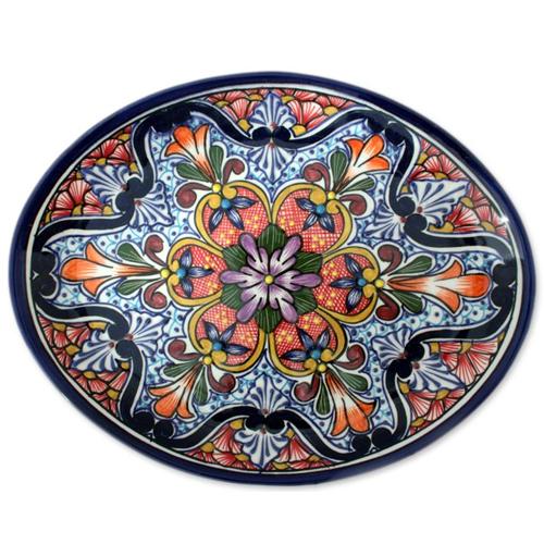 Talavera Ceramic Serving Plate