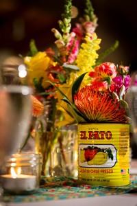 Recycled Enchilada Sauce Flower Vase