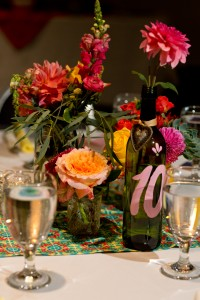 Recycled Wine Bottle Table Numbers