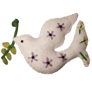 felted-dove-ornament