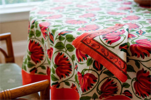 red-lotus-tablecloth-detail