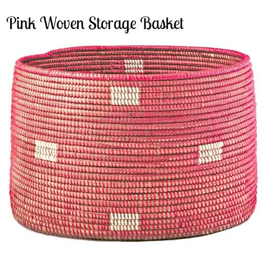 pink-woven-storage-basket